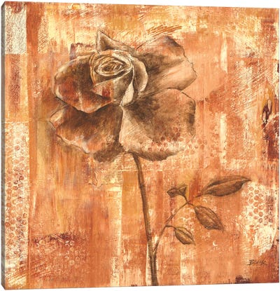 Rust Rose I Canvas Art Print
