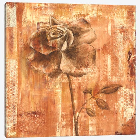 Rust Rose I Canvas Print #CBL50} by Carol Black Canvas Print