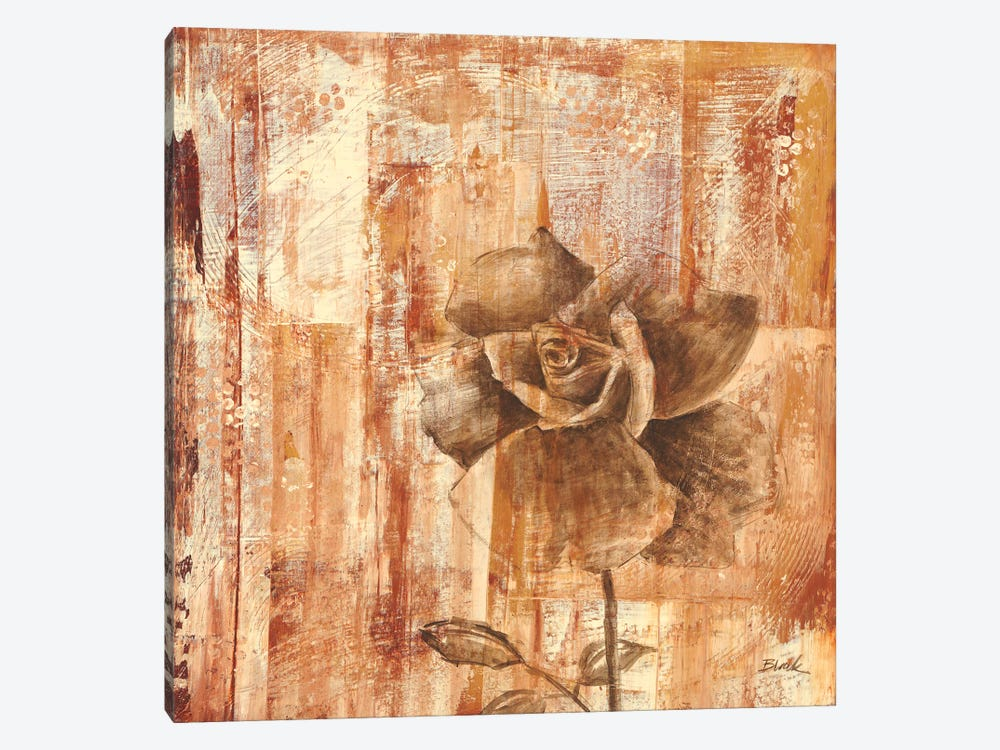 Rust Rose II by Carol Black 1-piece Canvas Print