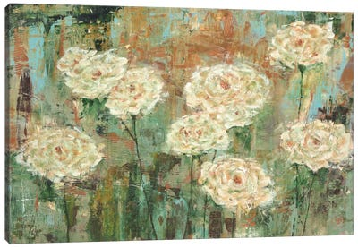 White Roses Canvas Art Print