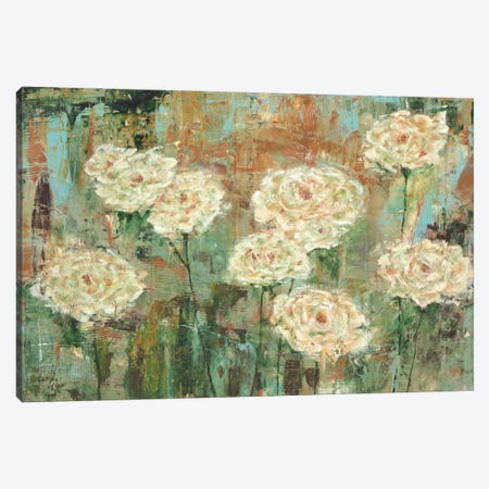 White Roses Canvas Print #CBL5} by Carol Black Canvas Wall Art