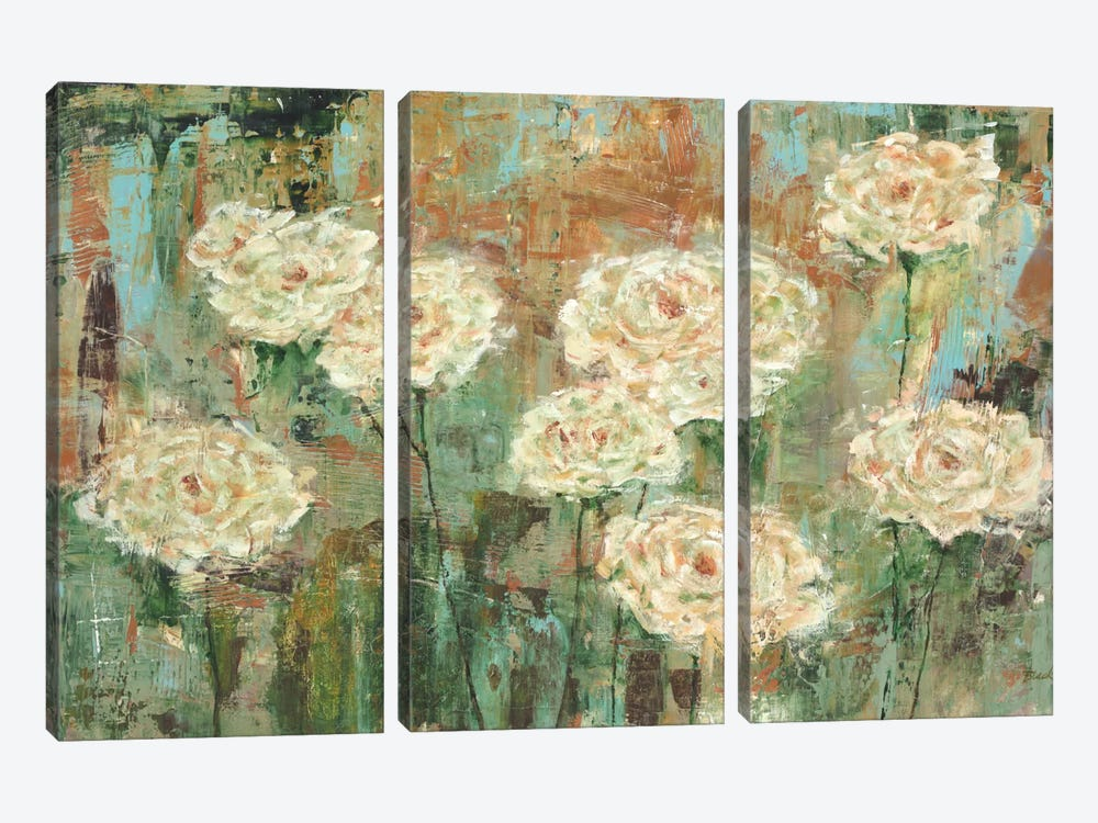 White Roses by Carol Black 3-piece Canvas Art Print