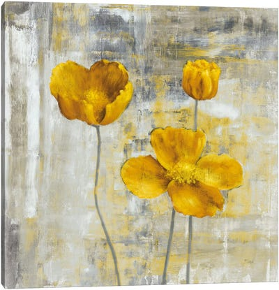 Yellow Flowers II Canvas Art Print