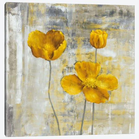 Yellow Flowers II Canvas Print #CBL7} by Carol Black Canvas Wall Art