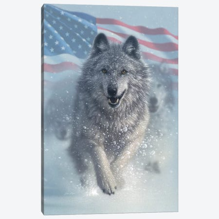 Running Wolves - America Canvas Print #CBO112} by Collin Bogle Canvas Art Print