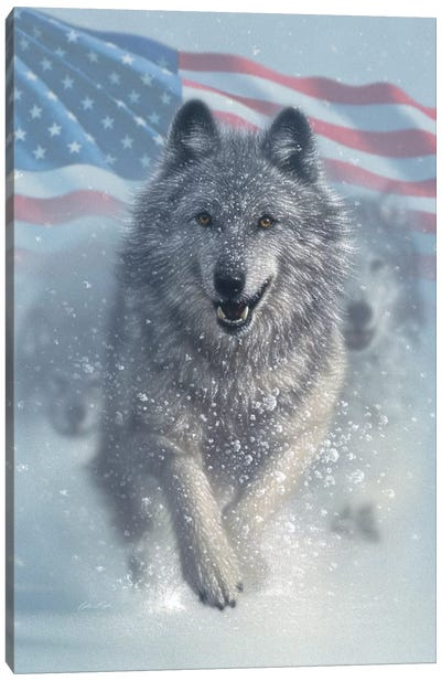 Running Wolves - America Canvas Art Print