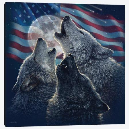 Wolf Trinity - America Canvas Print #CBO128} by Collin Bogle Canvas Wall Art