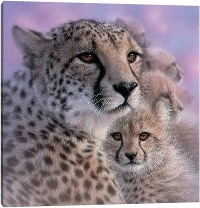 Cheetah Mother's Love Canvas Art Print