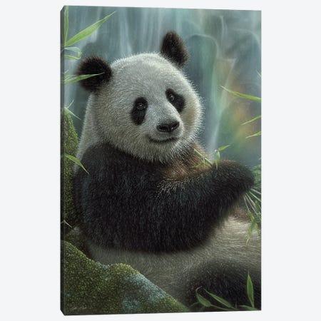 Panda Paradise - Vertical Canvas Print #CBO165} by Collin Bogle Art Print
