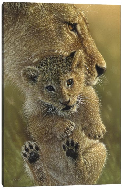 Mother's Pride - Lion, Vertical Canvas Art Print