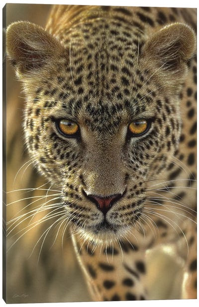 On The Prowl - Leopard, Vertical Canvas Art Print