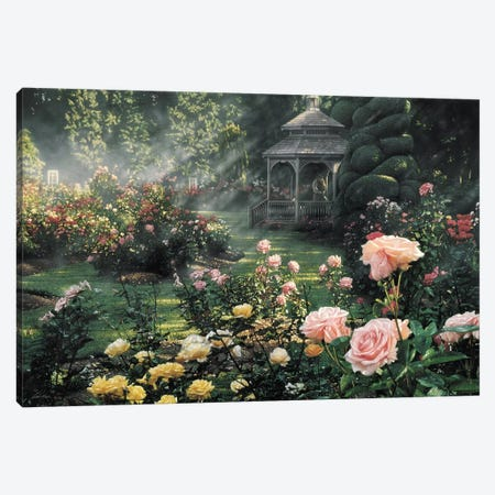 Paradise Found - Rose Garden, Horizontal 3-Piece Canvas #CBO54} by Collin Bogle Canvas Art Print