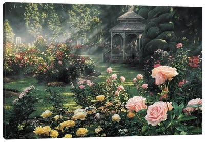 Paradise Found - Rose Garden, Horizontal Canvas Art Print