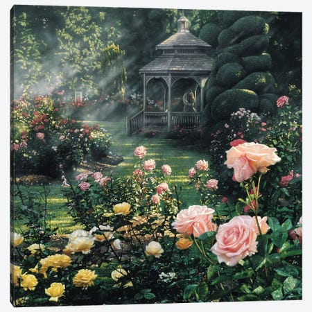 Paradise Found - Rose Garden, Square Canvas Print #CBO55} by Collin Bogle Art Print