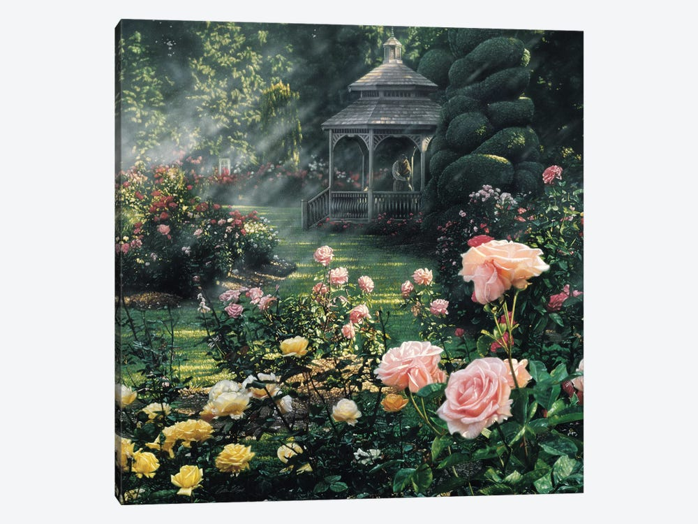 Paradise Found - Rose Garden, Square by Collin Bogle 1-piece Art Print