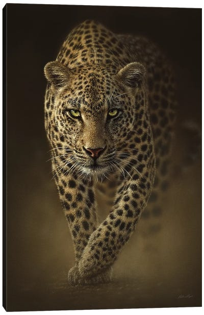 Savage Leopard, Vertical Canvas Art Print
