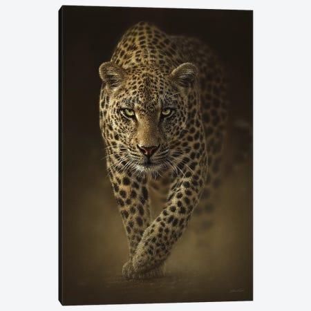 Savage Leopard, Vertical Canvas Print #CBO61} by Collin Bogle Art Print