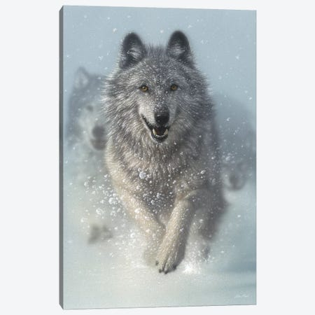 Snow Plow - Running Wolves, Vertical Canvas Print #CBO69} by Collin Bogle Canvas Print