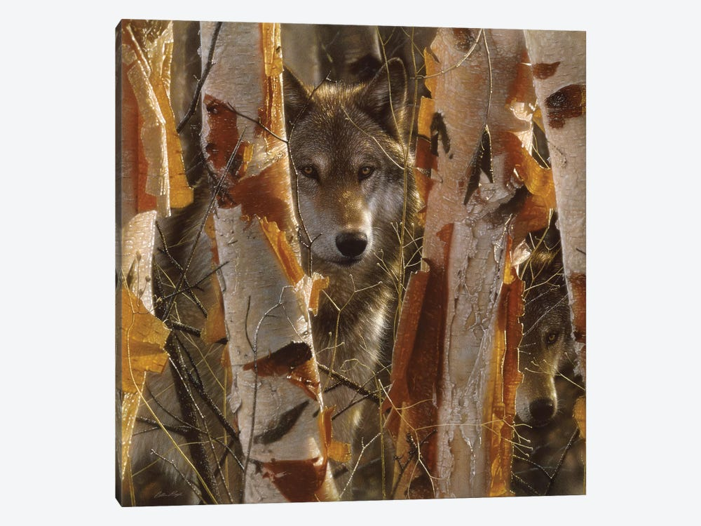 Wolf Guardian, Square 1-piece Canvas Art Print