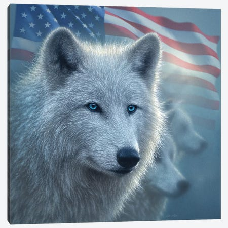 Arctic Wolves - America Canvas Print #CBO91} by Collin Bogle Canvas Wall Art