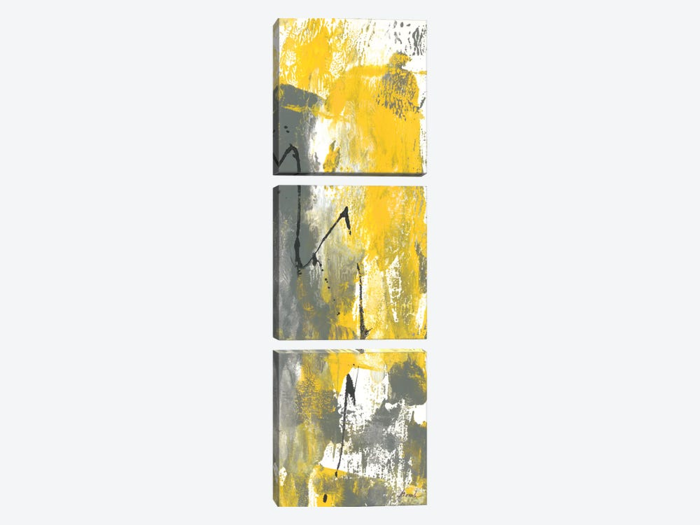 Grey Movement IV by Joyce Combs 3-piece Canvas Art Print