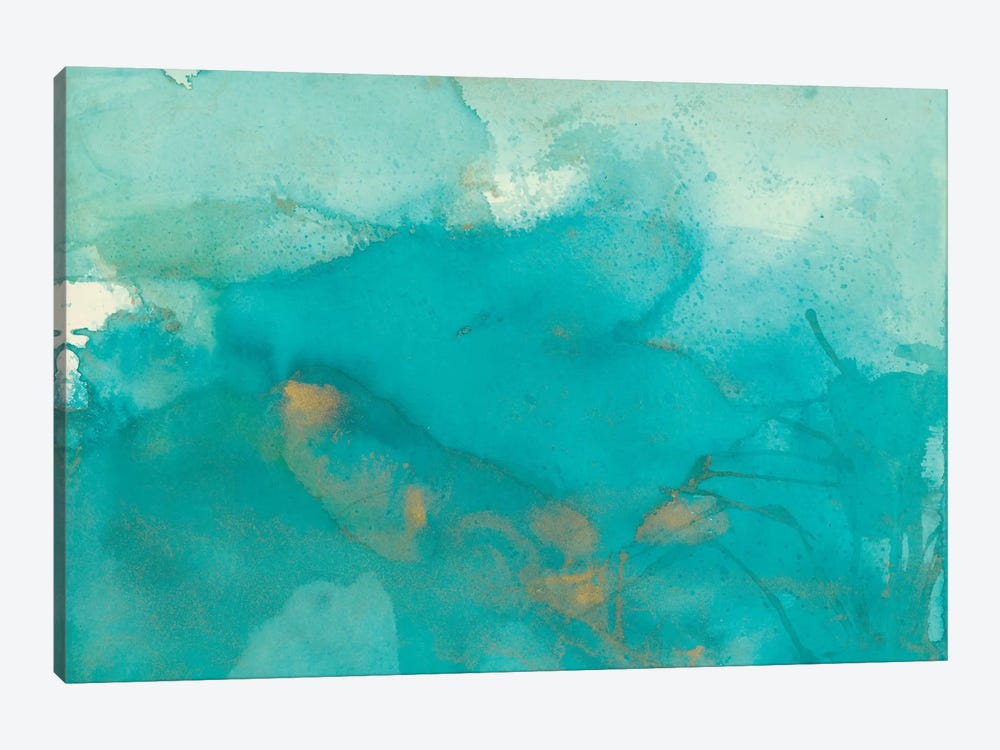 Turquoise Moment II by Joyce Combs 1-piece Canvas Wall Art