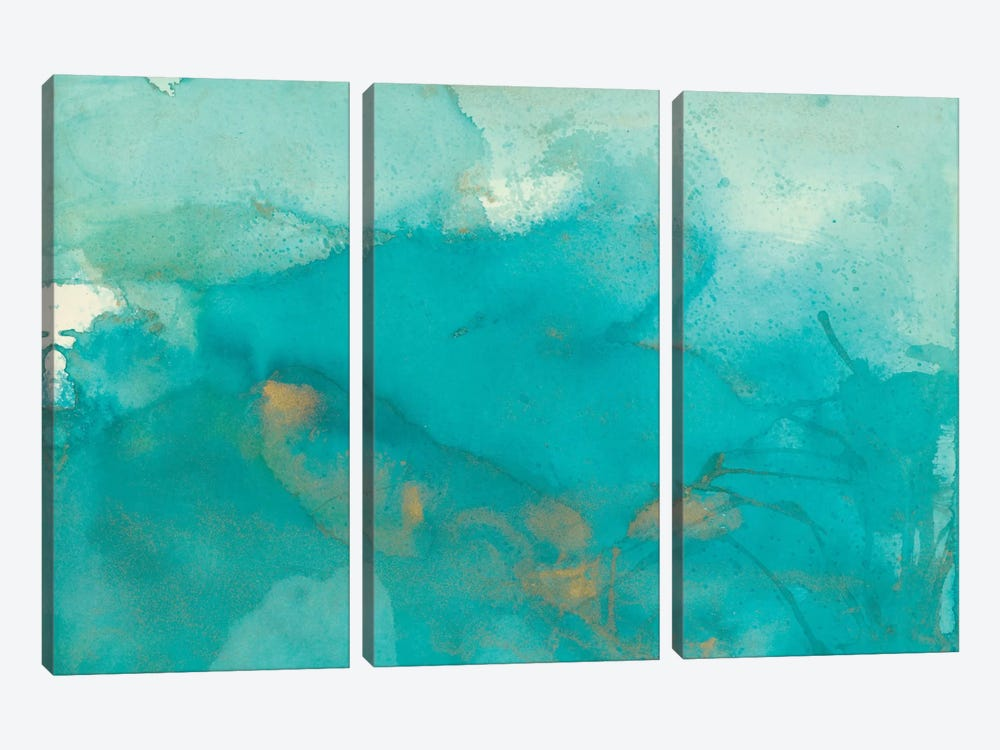 Turquoise Moment II by Joyce Combs 3-piece Canvas Wall Art