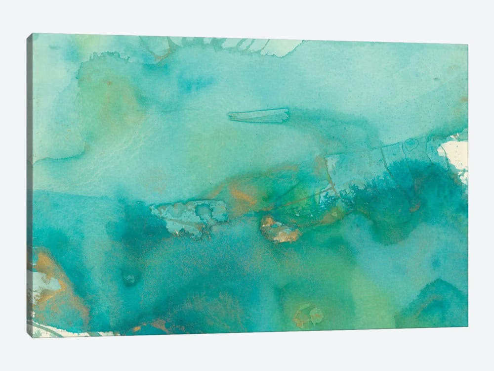 Turquoise Moment III by Joyce Combs 1-piece Canvas Art Print