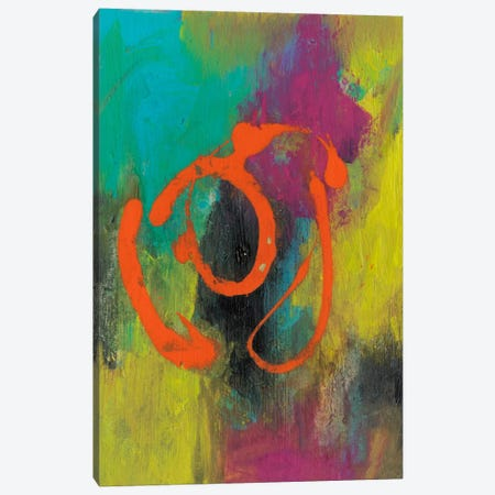 Orange Graffiti I Canvas Print #CBS23} by Joyce Combs Canvas Print