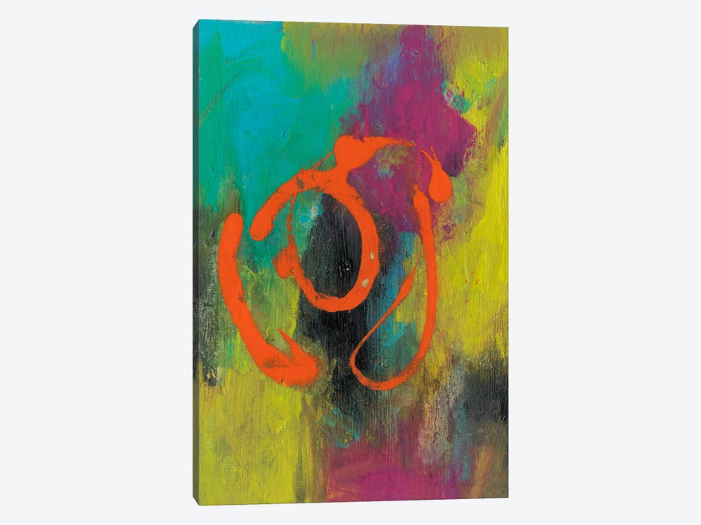 Orange Graffiti I by Joyce Combs 1-piece Canvas Art Print