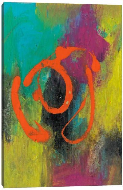 Orange Graffiti I Canvas Art Print
