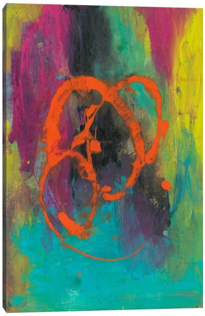 Orange Graffiti II Canvas Print #CBS24
