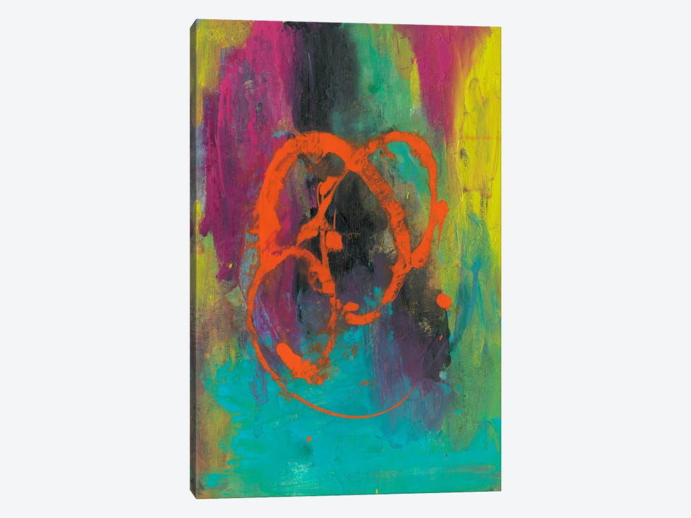 Orange Graffiti II by Joyce Combs 1-piece Canvas Artwork