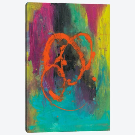 Orange Graffiti II Canvas Print #CBS24} by Joyce Combs Canvas Artwork