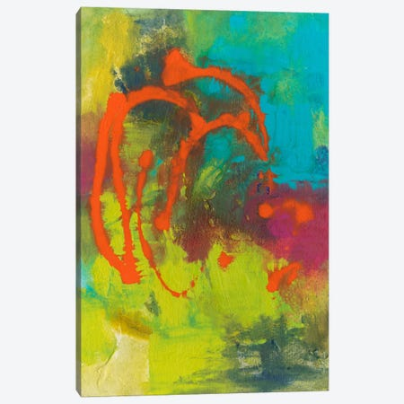 Orange Graffiti III Canvas Print #CBS25} by Joyce Combs Canvas Artwork