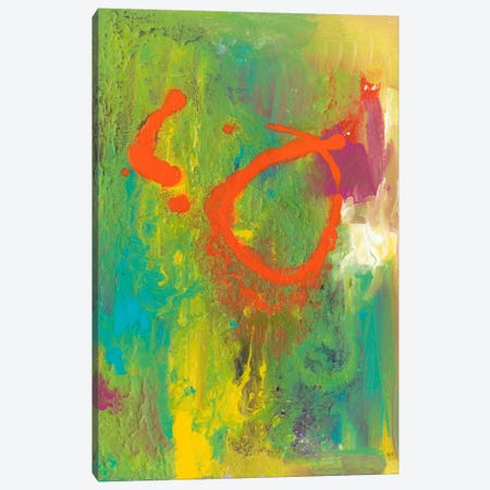 Orange Graffiti IV Canvas Print #CBS26} by Joyce Combs Canvas Wall Art