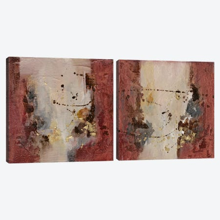 Early Autumn Abstract Diptych Canvas Print Set #CBS2HSET002} by Joyce Combs Canvas Art Print