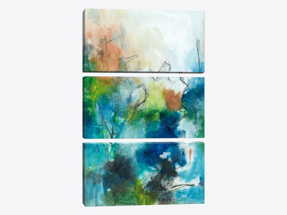 Spring Delight II by Joyce Combs 3-piece Canvas Artwork