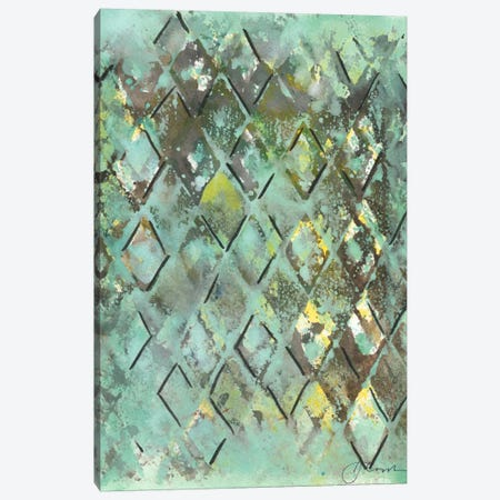 Lattice in Green I Canvas Print #CBS47} by Joyce Combs Canvas Wall Art