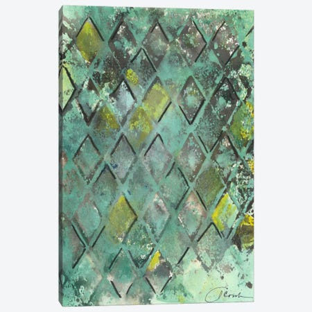 Lattice in Green II Canvas Print #CBS48} by Joyce Combs Art Print