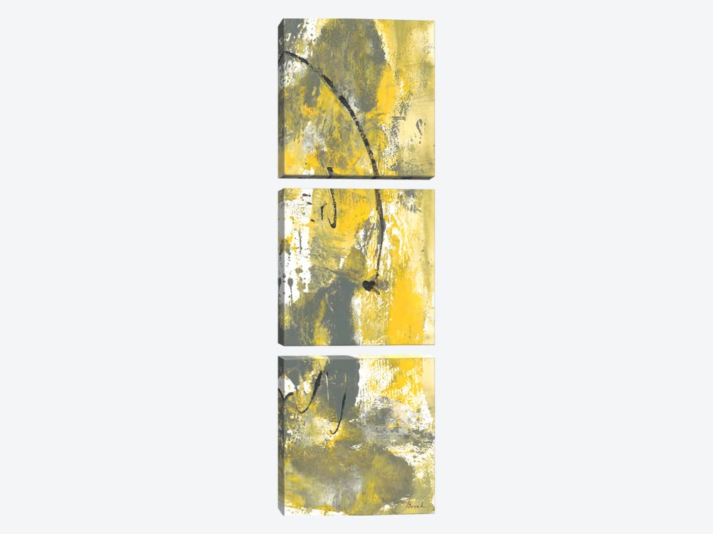 Grey Movement III by Joyce Combs 3-piece Canvas Art