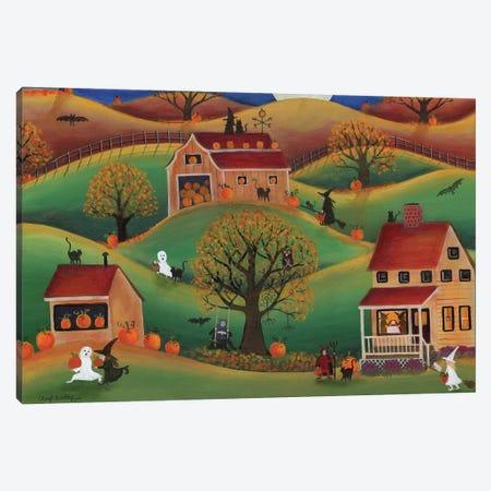 Halloween Autum Pumpkin Farm Canvas Print #CBT108} by Cheryl Bartley Canvas Wall Art