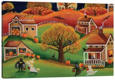 Halloween Autumn Moon Canvas Art Print