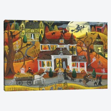Halloween Fright Night Canvas Print #CBT111} by Cheryl Bartley Canvas Print