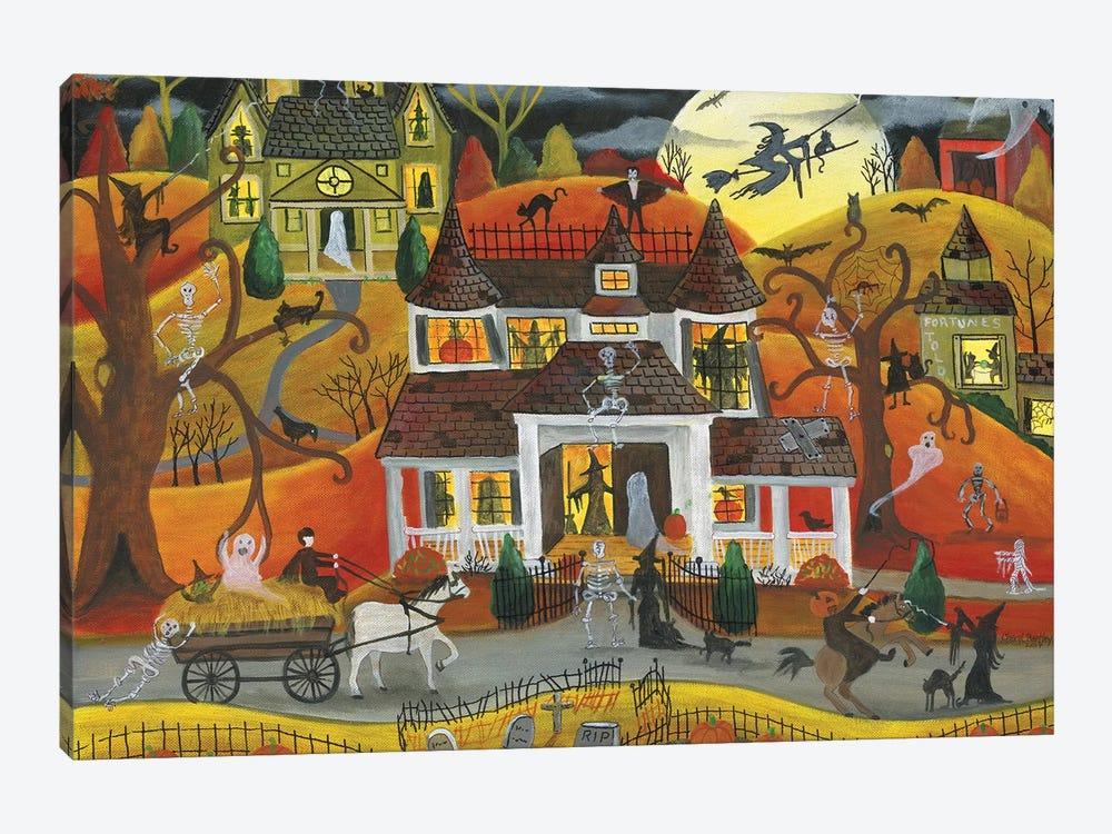 Halloween Fright Night by Cheryl Bartley 1-piece Canvas Wall Art