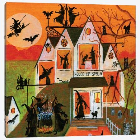Halloween House of Spells Canvas Print #CBT112} by Cheryl Bartley Canvas Print
