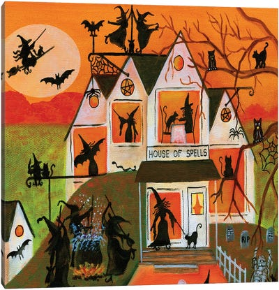Halloween House of Spells Canvas Art Print