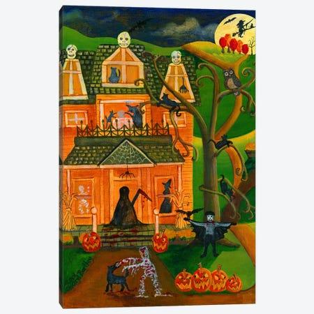 Halloween Skull House Canvas Print #CBT114} by Cheryl Bartley Canvas Art