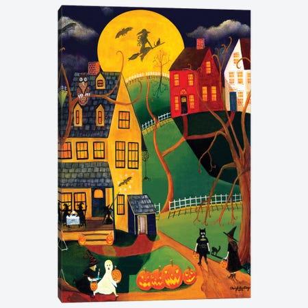 Halloween Trick or Treat Canvas Print #CBT115} by Cheryl Bartley Canvas Art
