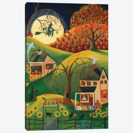 Halloween Witches House Canvas Print #CBT116} by Cheryl Bartley Canvas Art